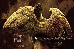 Angel Art Note Card  Angel Wings  Spiritual by KathyFornal on Etsy