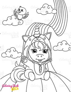 A sweet coloring book full of merry and funny unicorns. Fun adventures of unicorns that meet various animals, fly balloons, dance at the disco, meet fairies and jump on a rainbow. Unicorn Coloring Pages, Coloring Pages For Kids, Coloring Books, Little Unicorn, Happy Animals, Amazing Adventures, Balloons, Fairy, Rainbow