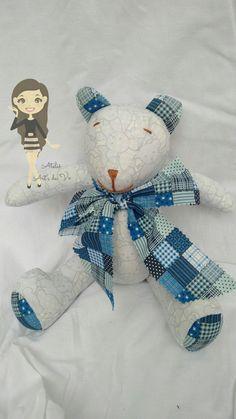 Urso azul, pernas articuladas