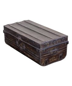 Take a look at this Rustic Brown Vintage 1950s Iron Traveler's Storage Trunk on zulily today!