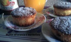 Muffin all'arancia e marmellata