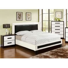 Shop for Furniture of America Blairess 2-piece Contemporary Duo-Tone Bed with Nightstand Set. Get free delivery at Overstock.com - Your Online Furniture Shop! Get 5% in rewards with Club O!