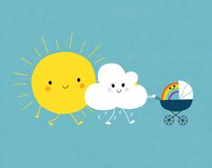 The weather family Art Print