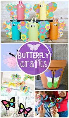 Beautiful Butterfly Crafts for Kids to Make #Spring and summer art projects | CraftyMorning.com