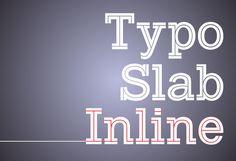 Typo Slab Inline Font | dafont.com