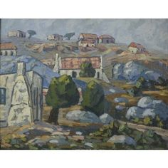 Houses on a Hill House On A Hill, Alice, Houses, Gallery, Artwork, Painting, Homes, Work Of Art, Auguste Rodin Artwork