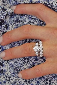 Wow. I love this as an engagement ring/wedding band pair