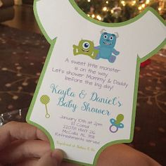 This item is unavailable Monsters Inc Baby Shower, Etsy App, Baby Shower Invitations, Babyshower, Shower Ideas, Iphone, Day, Shower Invitation, Baby Showers