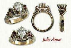 Julie Anne Engagement Rings - custom celtic engagement rings w/ gemstones, diamonds.