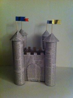 STEM & Design: Castle construction from empty tissue/cereal boxes and paper towel/toilet paper rolls :) Sandwich sticks with paper for flags! Stem Projects, Cool Diy Projects, Projects For Kids, Diy For Kids, Crafts For Kids, Arts And Crafts, School Projects, Alex Craft, Common Core Language Arts