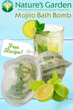 Free Mojito Bath Bomb Recipe by Natures Garden