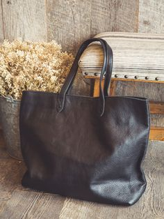 Leather Market Tote from Irene's Story
