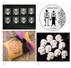 Day of the Dead Wedding Favors love the purple one not fond of the other ones