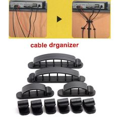 Multi-Purpose Cabledrop Cable Clip Line Organizer, 10pcs