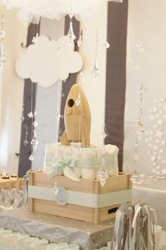 What an original and adorable Space themed baby shower! Via Kara's Party Ideas @HUGGIES Baby Shower Planner Baby Shower Planner