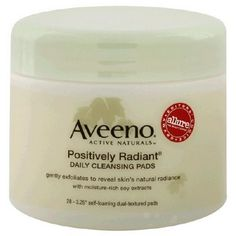 Aveeno Positively Radiant Daily Cleansing Pads - A Girl's Gotta Spa!