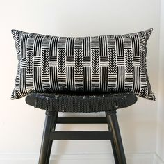 lines and arrows pillow