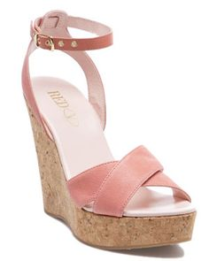RED Valentino Leather Wedge Sandal