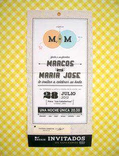 Evento ::: Mª José & Marcos ::: Invitaciones Boda
