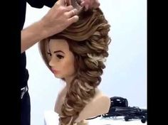 Свадебная прическа с розой из волос.gaya rambut rose Wedding hairstyle Rose hairstyle Kapralova Olga - YouTube