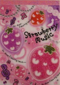Strawberry Music Japanese Memo Pad by Kamio