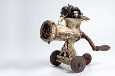 Harm van der Zeeuw trained in the ceramic industry where he gained an understanding of technical and chemical processes while developing an interest in ceramic art. Biscuit, Found Object Art, Scrap Metal Art, Junk Art, Repurposed Items, Assemblage Art, Tin Toys, Recycled Art, Horror Art