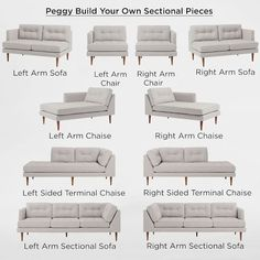 Build Your Own Peggy Sectional Pieces West Elm Furniture Avalon