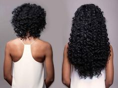 Curly Hair Extensions Indian Virgin Remy Before After Back