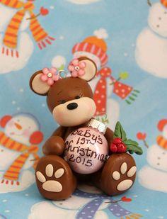 1 ornamento de la Navidad del bebé primer por DandysDreamFigurines