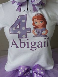 Sofia the first theme birthday shirt To order please visit Teranika and Co. via Facebook formally known as Pink sparkles posh bowtique