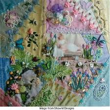 crazy quilt - Lots of Narrative possible in the crazy quilt !