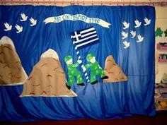 Προσχολική Παρεούλα : Ένας ήρωας στρατιώτης με μήνυμα ... 28th October, Craft Projects, Preschool, Flag, Crafts, Education, Preschools, Creative Crafts, Early Elementary Resources