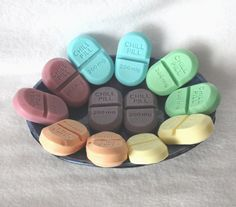One Dozen Soap Party Favors - chill pills, novelty, gag soap, pharmacy, nurse, doctor, medical, medicine, graduation, baby shower on Etsy, $15.00
