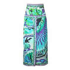 Emilio Pucci Cotton Twill Maxi Skirt