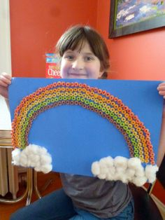Rainbow project with Fruity Cheerios | Crafts with Box Tops