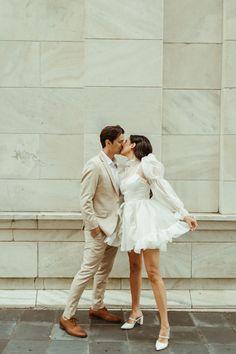 Wedding Bells, Our Wedding, Dream Wedding, Planning A Small Wedding, Mini Wedding Dresses, Elopement Dress, Courthouse Wedding, Real Couples, Bridal Shoot