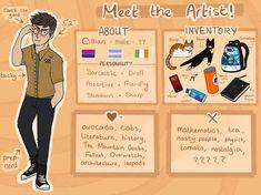 Meet The Artist by lucernes Drawing Challenge, Art Challenge, Character Drawing, Character Design, Character Sheet Template, Nostalgia Art, Desenhos Gravity Falls, Human Drawing, Cute Art Styles