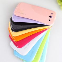 Hot Selling Colorful Ultra-Thin Battery Back Case Cover For Samsung Galaxy S3 i9300 Phone Shell Case cover Protector 11 Colors