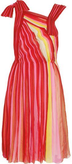 Bottega Veneta Plissé silk-chiffon dress on shopstyle.com