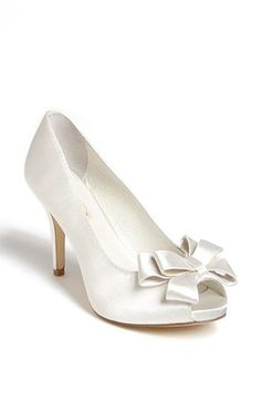 Menbur Bow Peep Toe Pump available at #Nordstrom