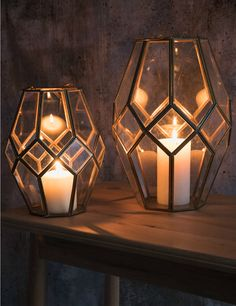 How hygge! These gorgeous antique-style brass lanterns will make your home feel comfy & cosy. Large & small styles available now at fantastic prices! Hygge, Cut Glass, Glass Art, Brass Lantern, Candle Holder Decor, Lanterns Decor, Decoration, Antique Brass, Living Room Decor