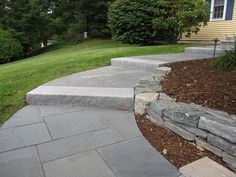 Front Walkway Ideas thermal bluestone pavers | bluestone walkways with cement steps - Google Search