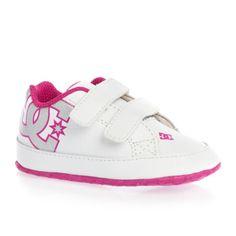 DC SHOES COURT GRAFFIK CRIB WHITE - PINK BABY GIRLS UK SIZE 0.5 RRP £22 | eBay