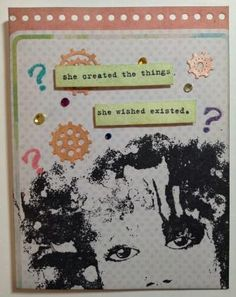 She Created... made with Donna Downey stamps