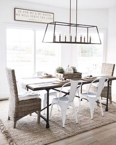 Terrific modern farmhouse dining room chandelier lighting lantern style The post modern farmhouse dining room chandelier lighting lantern style… appeared first on Home Decor Designs Trends . Farmhouse Dining Room Lighting, Casual Dining Rooms, Dining Room Light Fixtures, Dining Lighting, Dining Room Sets, Dining Room Design, Industrial Dining, Dining Room Chandeliers, Linear Light Fixture