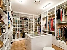 the dream walk-in wardrobe