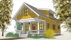 The Poplar Bungalow. Free download from THE small HOUSE CATALOG.  Cheery three-bedroom bungalow with an array of options. Design criteria:  2012 IRC, 2009 WSEC.