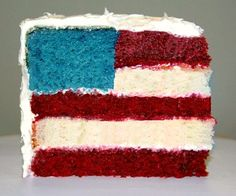 patriotic cake.  Oh my, I'll have to remember this one for my Mom's birthday next year (July 4th)