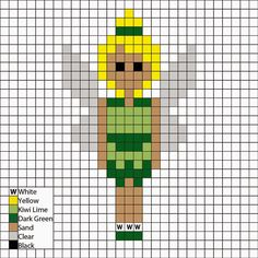 Princess and the Frog, Tiana in workth clothes - Perler Mania Pattern Pony Bead Patterns, Pearler Bead Patterns, Perler Patterns, Beading Patterns, Perler Beads, Fuse Beads, Beaded Cross Stitch, Crochet Cross, Cross Stitch Designs