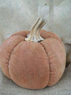 Primitive Pumpkin with real pumpkin stem by ArtisticOriginals, $28.00